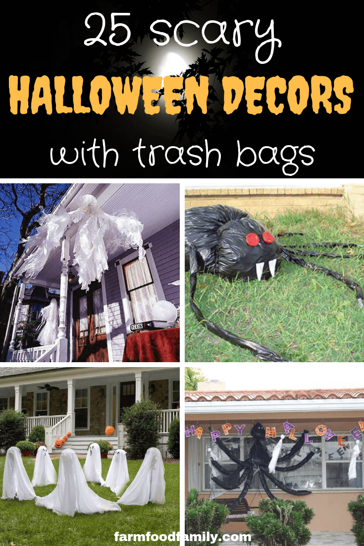 25 Scary Halloween Decoration Ideas with Trash bags