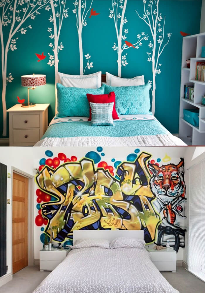 Hit the Wall with Bold Design   Decorating Teen Bedrooms: Transforming a Child's Room with Teenage Décor - FarmFoodFamily.com