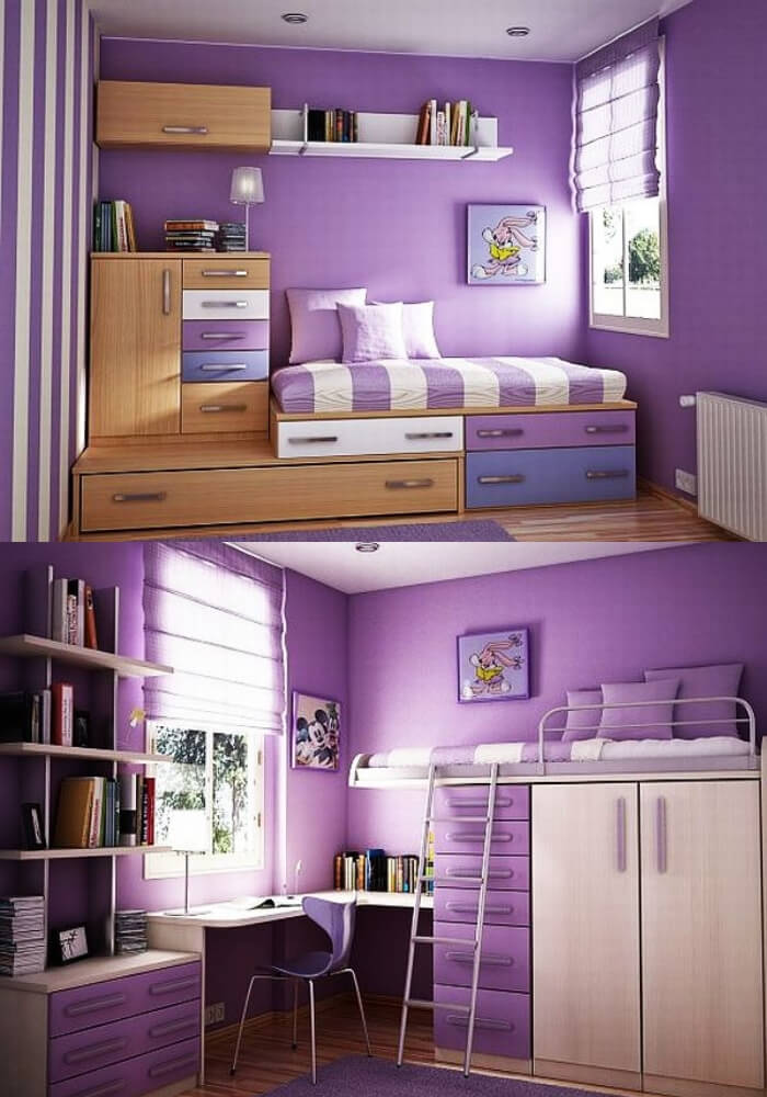 Violet teenage girl rooms   Decorating Teen Bedrooms: Transforming a Child's Room with Teenage Décor - FarmFoodFamily.com