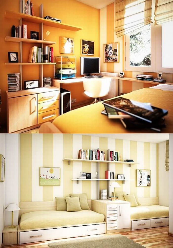Yellow teenage girl rooms   Decorating Teen Bedrooms: Transforming a Child's Room with Teenage Décor - FarmFoodFamily.com