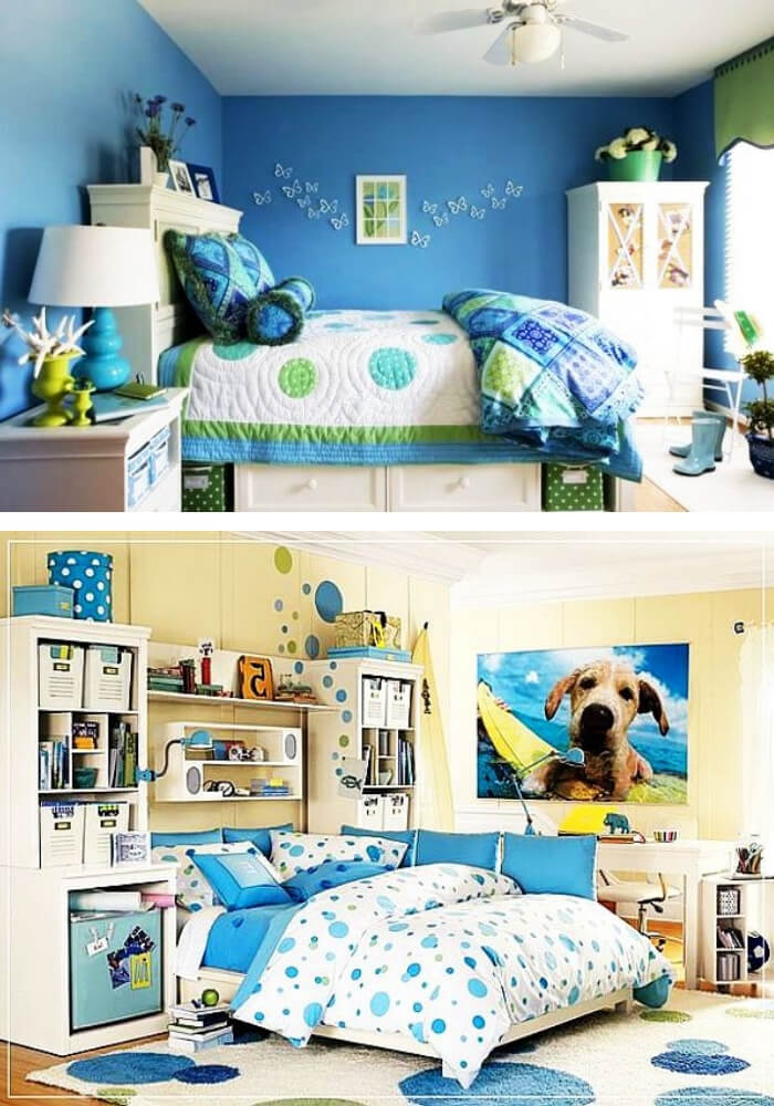 Blue teenage girl rooms   Decorating Teen Bedrooms: Transforming a Child's Room with Teenage Décor - FarmFoodFamily.com