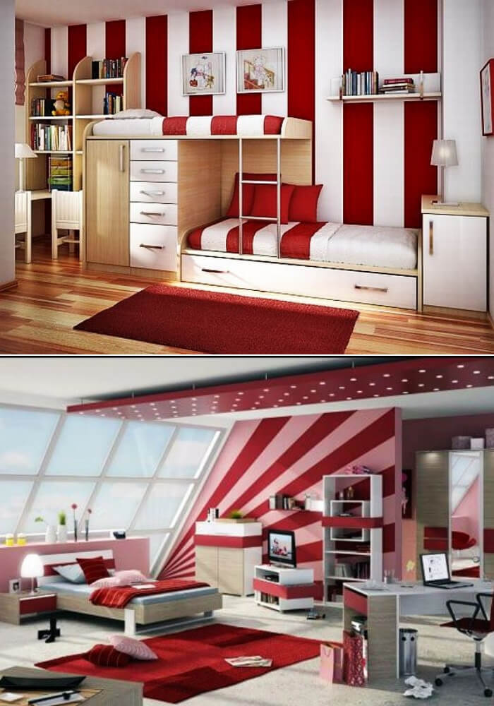 Red teenage girl rooms   Decorating Teen Bedrooms: Transforming a Child's Room with Teenage Décor - FarmFoodFamily.com