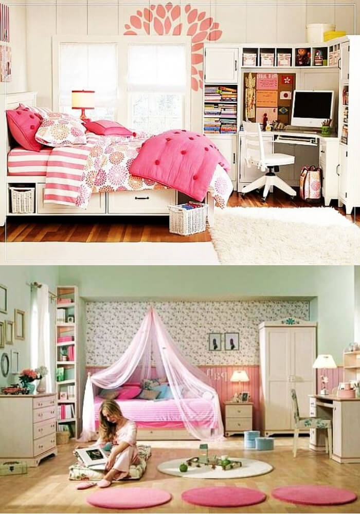Pink teenage girl rooms   Decorating Teen Bedrooms: Transforming a Child's Room with Teenage Décor - FarmFoodFamily.com