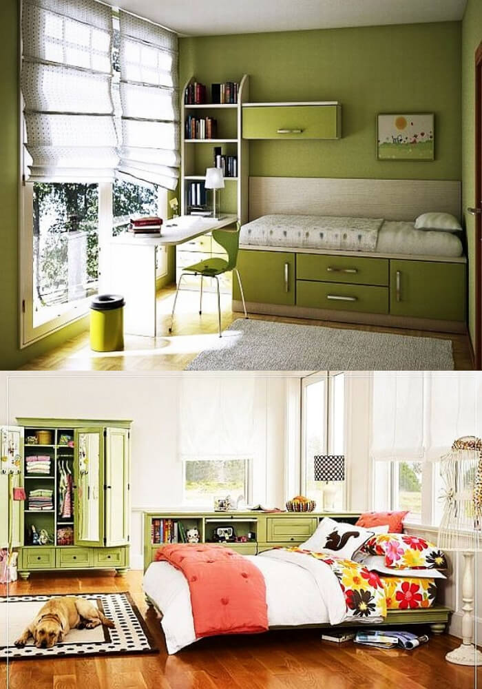 Green teenage girl rooms   Decorating Teen Bedrooms: Transforming a Child's Room with Teenage Décor - FarmFoodFamily.com