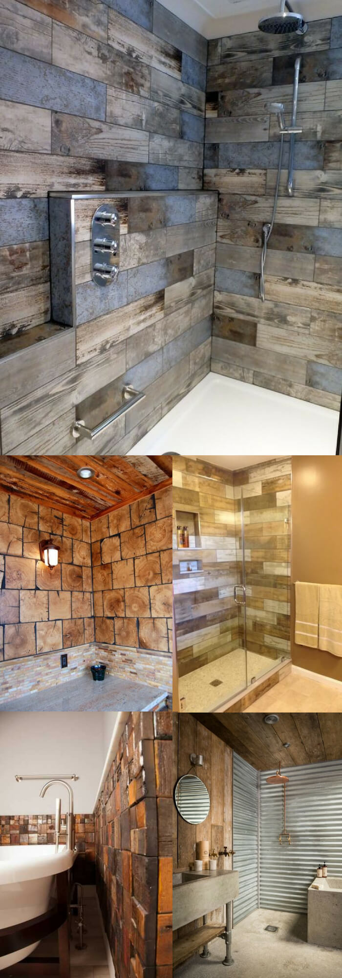 Wood wall   Unique Wall Tile Ideas for Bathroom Design