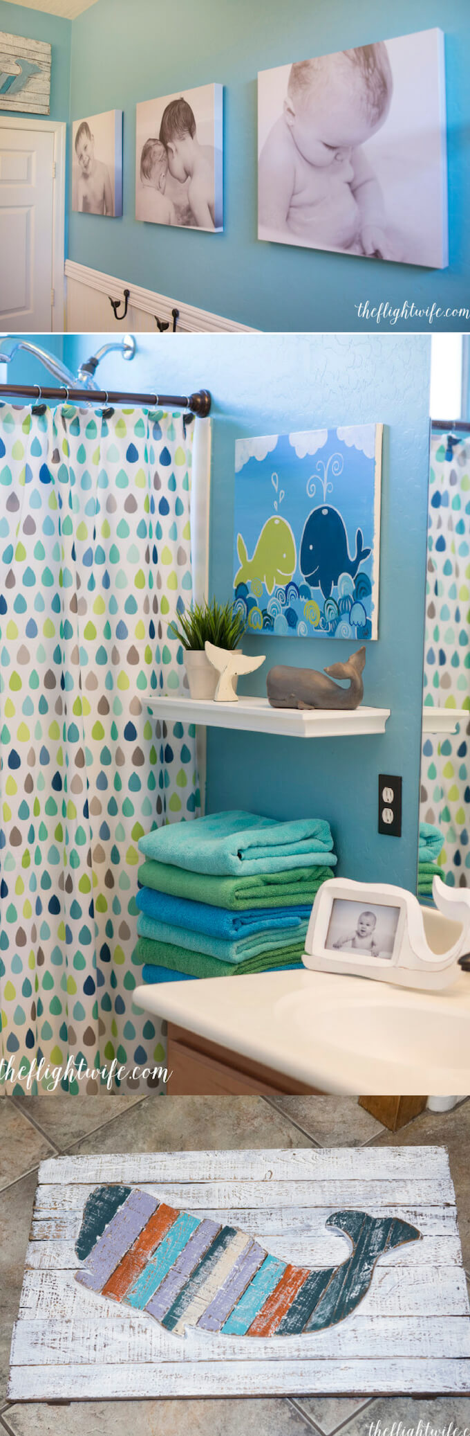 Kids Bathroom Makeover – Fun And Friendly Whales | Kids Bathroom Décor Tips: Decorating Ideas for a Child's Bathroom