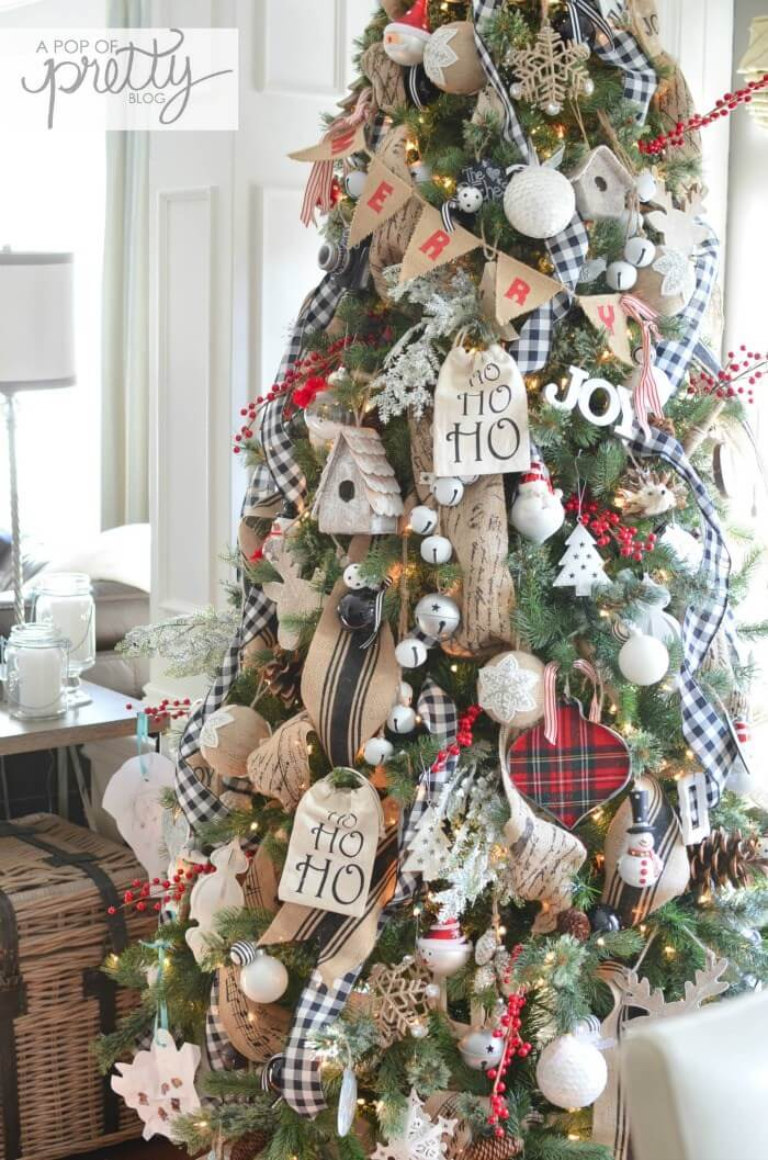 Cottage Christmas | Best Way to Decorate Christmas Trees on a Budget: Inexpensive or Free & Easy Holiday Ornaments & Decorations