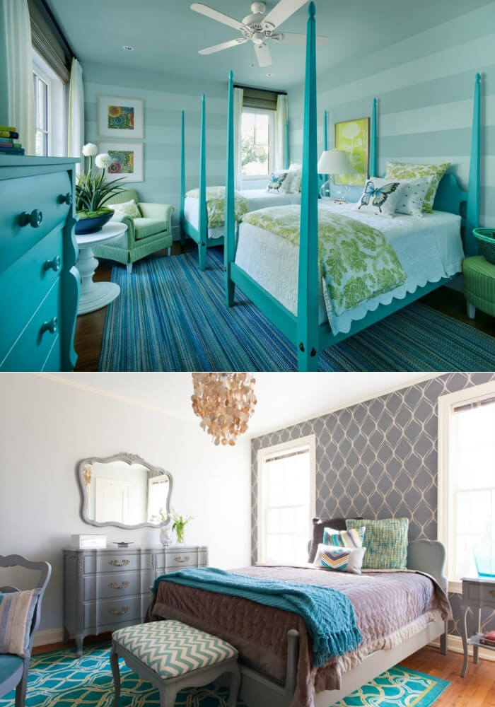 Cool contrast   Decorating Teen Bedrooms: Transforming a Child's Room with Teenage Décor - FarmFoodFamily.com