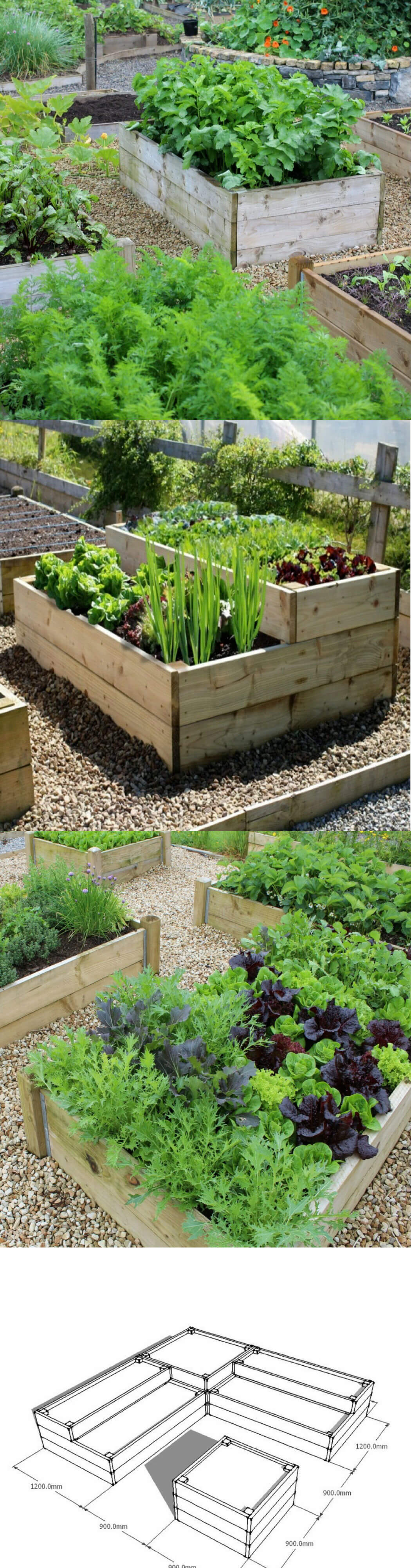 Timber Raised Bed | How to Build a Raised Vegetable Garden Bed | 39+ Simple & Cheap Raised Vegetable Garden Bed Ideas - farmfoodfamily.com