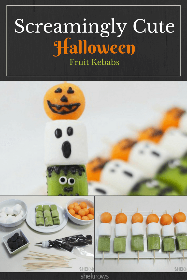 Frightful Halloween fruit kebabs recipe | Halloween Party Food Ideas | Halloween Party Themes For Adults