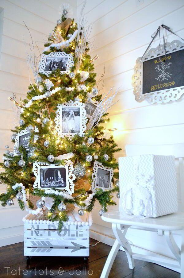 White Christmas Tree | Best Way to Decorate Christmas Trees on a Budget: Inexpensive or Free & Easy Holiday Ornaments & Decorations