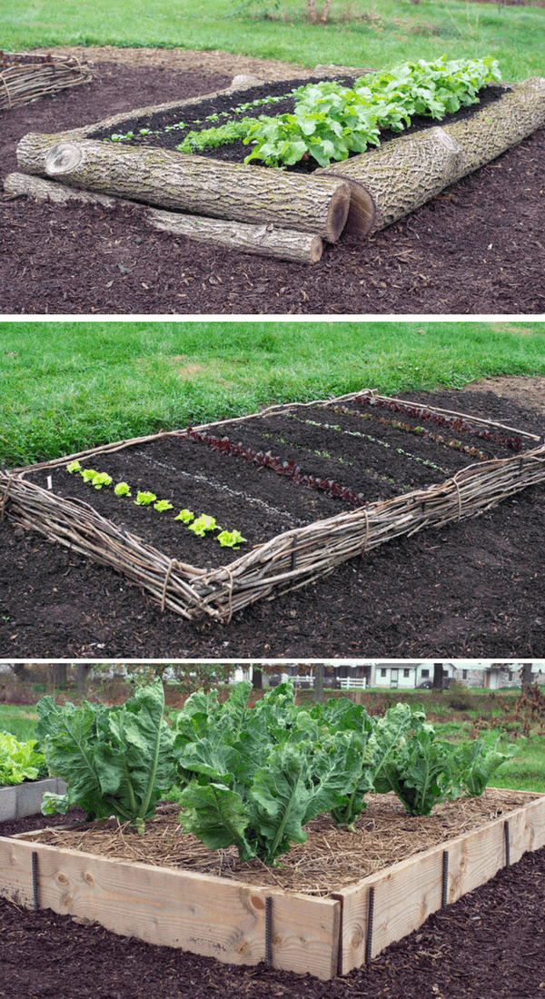 Wood log raised Bed | How to Build a Raised Vegetable Garden Bed | 39+ Simple & Cheap Raised Vegetable Garden Bed Ideas - farmfoodfamily.com
