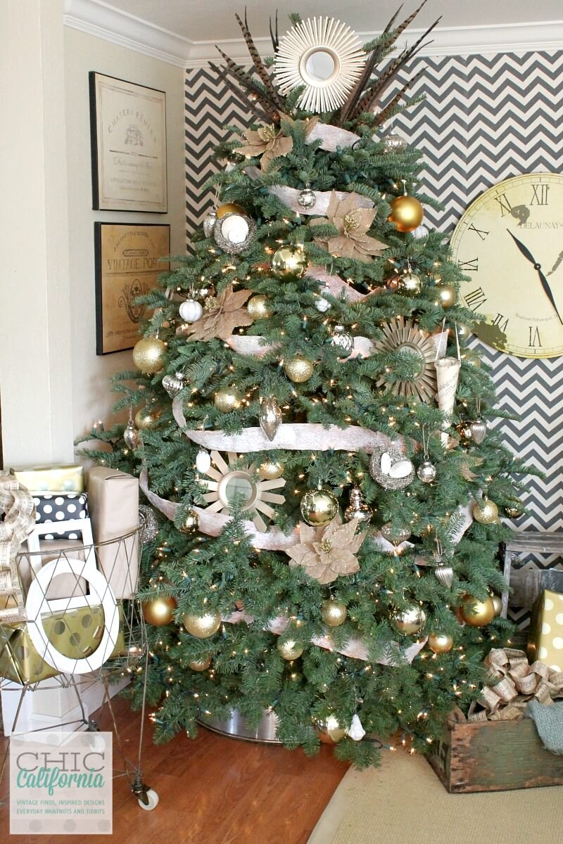 DIY Christmas Tree Collar | Best Way to Decorate Christmas Trees on a Budget: Inexpensive or Free & Easy Holiday Ornaments & Decorations