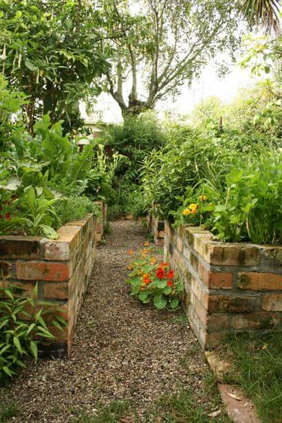 Brick Raised Bed | How to Build a Raised Vegetable Garden Bed | 39+ Simple & Cheap Raised Vegetable Garden Bed Ideas - farmfoodfamily.com