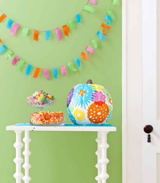 Colorful Pumpkins | No-Carve Pumpkin Decorating Ideas For This Halloween