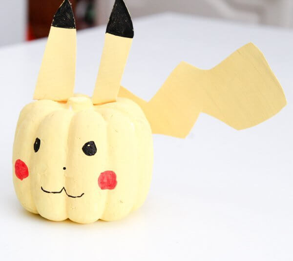 Pikachu | No-Carve Pumpkin Decorating Ideas For This Halloween