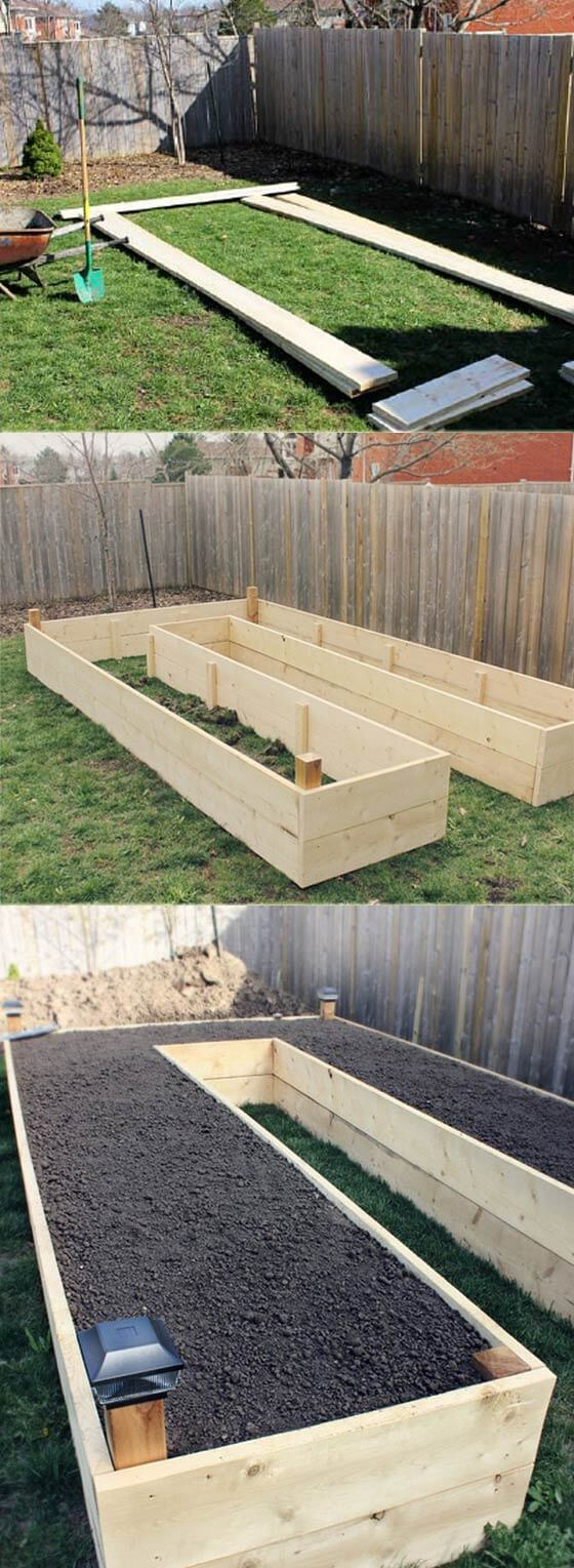 U Shaped Garden Bed | How to Build a Raised Vegetable Garden Bed | 39+ Simple & Cheap Raised Vegetable Garden Bed Ideas - farmfoodfamily.com