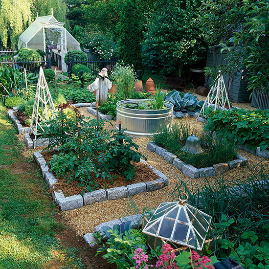 Stone garden bed | How to Build a Raised Vegetable Garden Bed | 39+ Simple & Cheap Raised Vegetable Garden Bed Ideas - farmfoodfamily.com