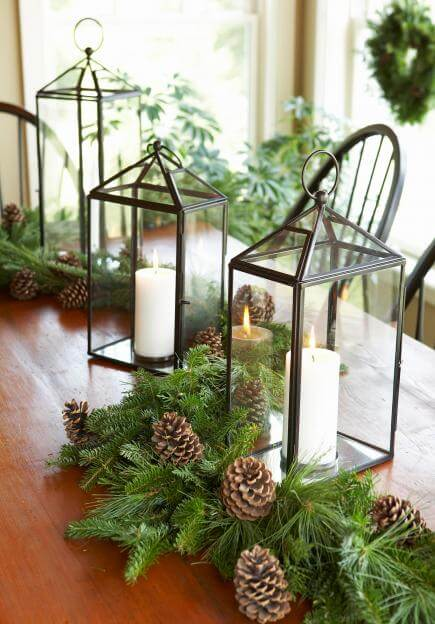 Lantern Light | Best Elegant Christmas Centerpieces & Designs | Farmfoodfamily.com