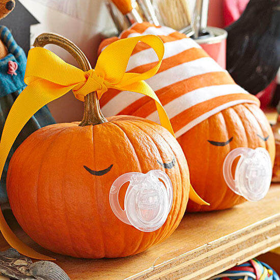 Binky Babies | No-Carve Pumpkin Decorating Ideas For This Halloween