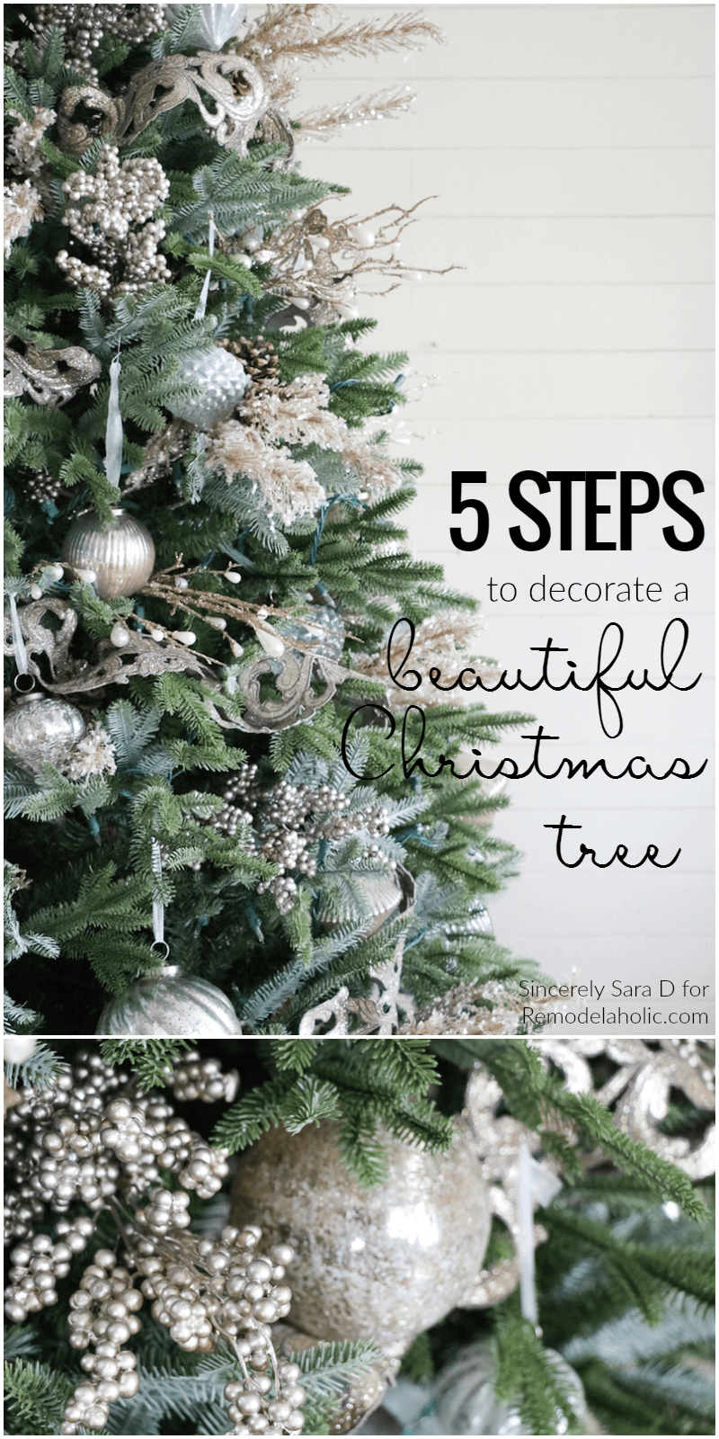 Decorate Christmas Tree in 5 Simple Steps | Best Way to Decorate Christmas Trees on a Budget: Inexpensive or Free & Easy Holiday Ornaments & Decorations