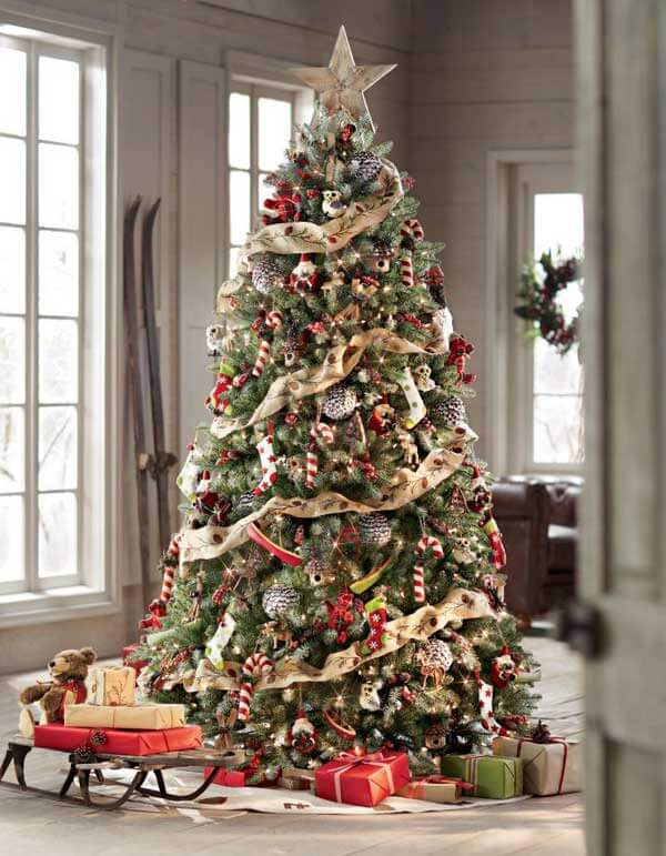 Christmas Tree Ribbon | Best Way to Decorate Christmas Trees on a Budget: Inexpensive or Free & Easy Holiday Ornaments & Decorations