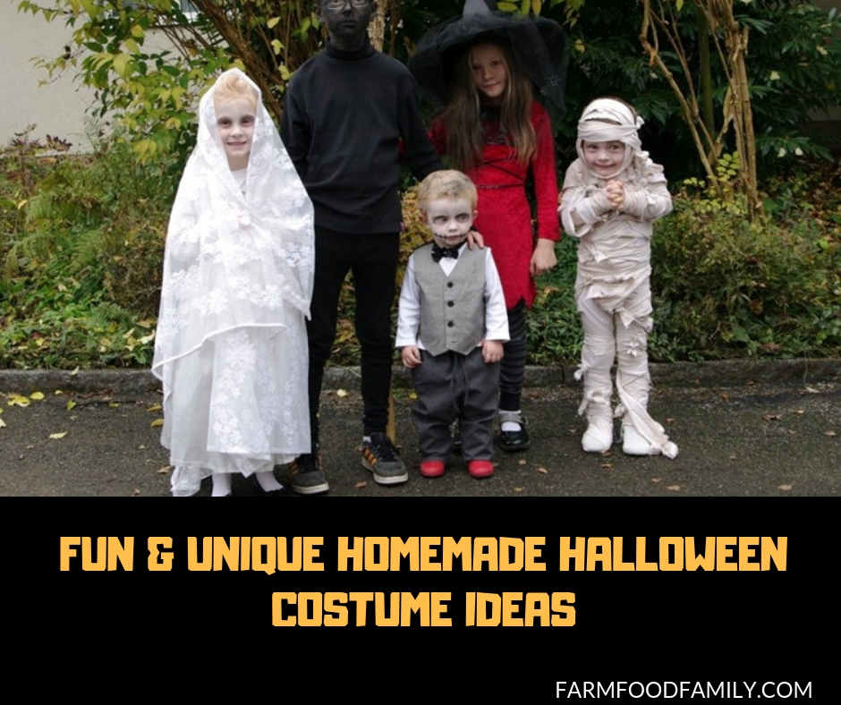 Homemade Halloween Costumes.10 Fun Unique Homemade Halloween Costume Ideas Farmfoodfamily