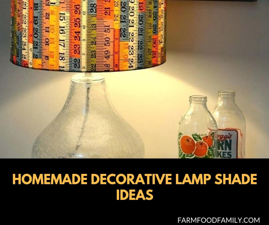 Homemade decorative lampshade ideas