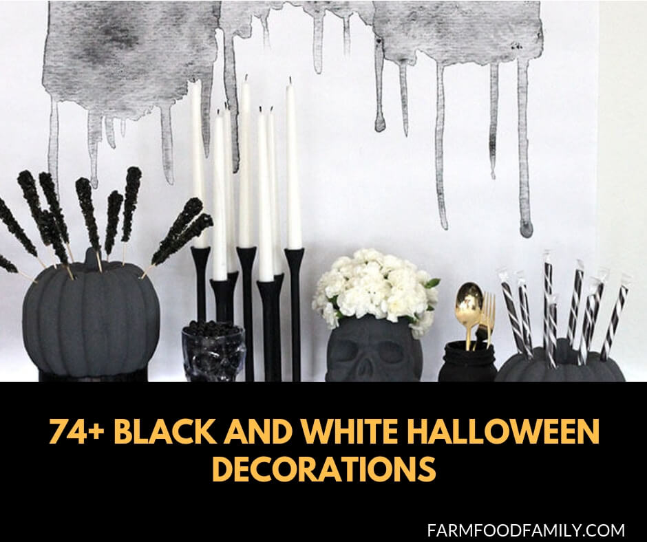 74+ Black and white Halloween Decorating Ideas