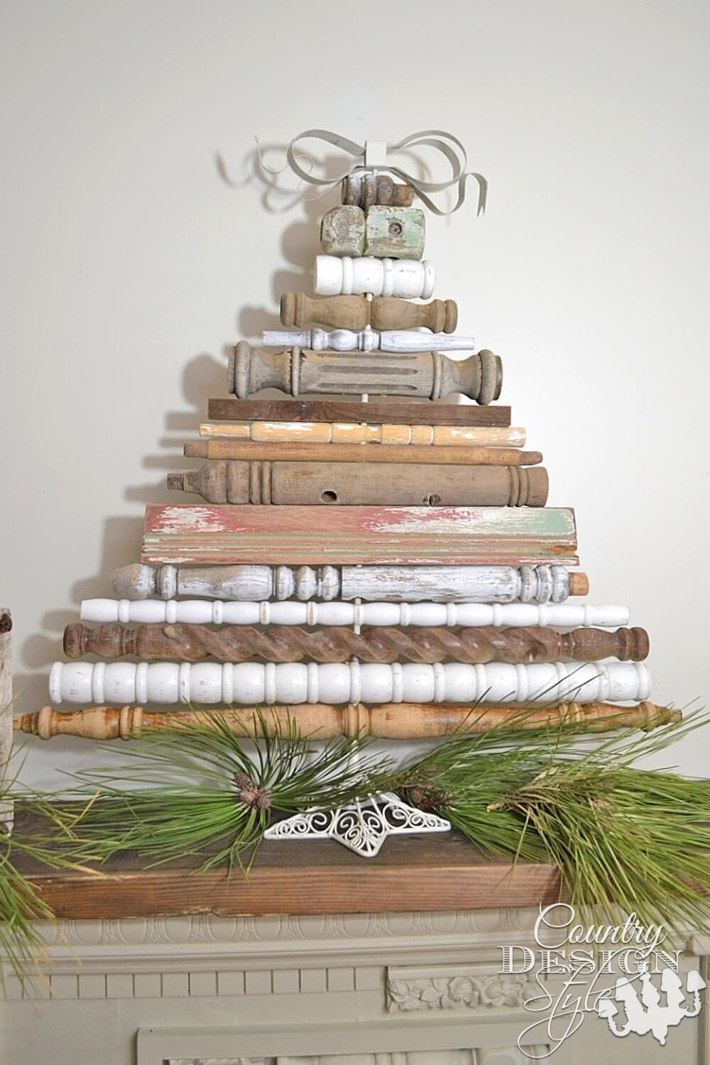 Christmas tree made from spindles