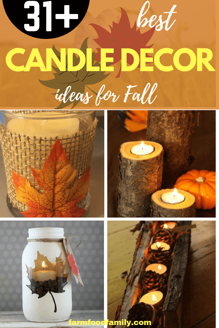 31+ Best DIY Fall Candle Decoration Ideas