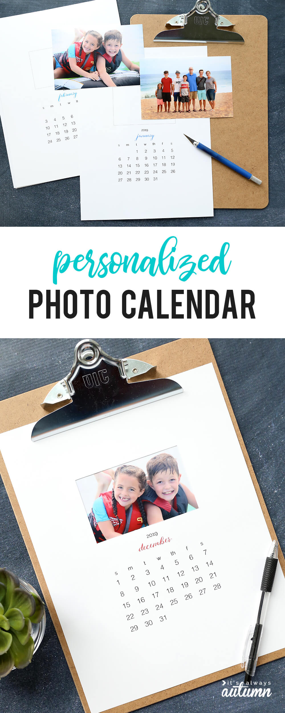 Personalized DIY photo calendar | Christmas Gifts for Grandparents: Creative Holiday Ideas for Grandma and Grandpa