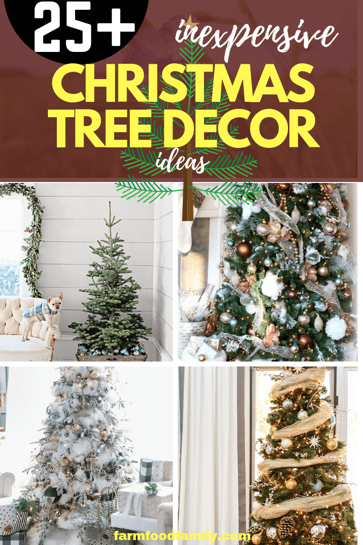 Best Way to Decorate Christmas Trees on a Budget: Inexpensive or Free & Easy Holiday Ornaments & Decorations