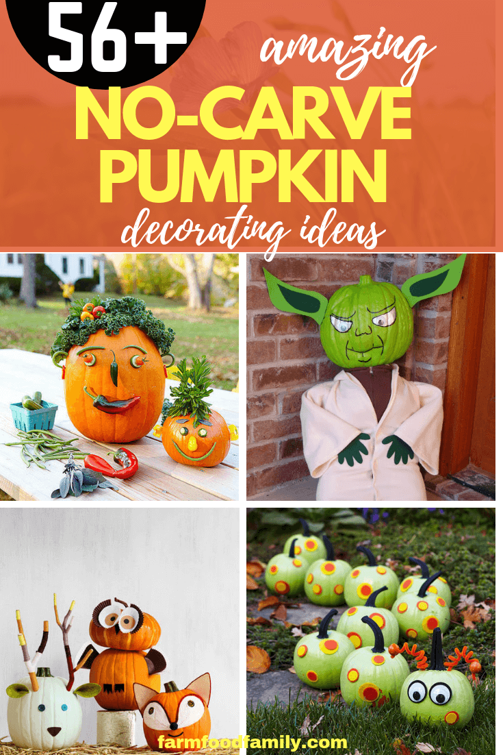 No-Carve Pumpkin Decorating Ideas: Unique Ways to Adorn Halloween Jack-o-Lantern Without Carving
