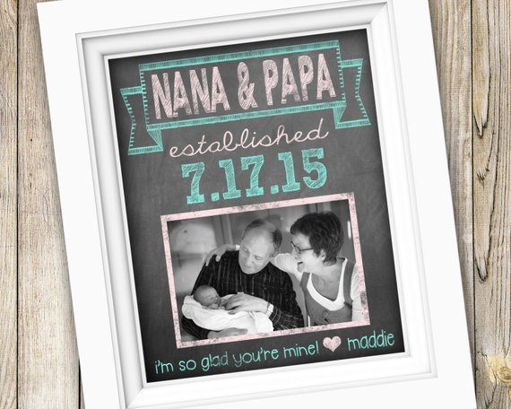 Baby Photo Announcement | Christmas Gifts for Grandparents: Creative Holiday Ideas for Grandma and Grandpa