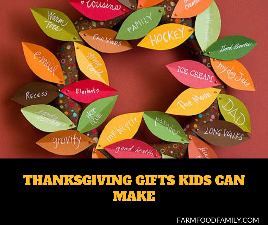 Thanksgiving gifts kids can make