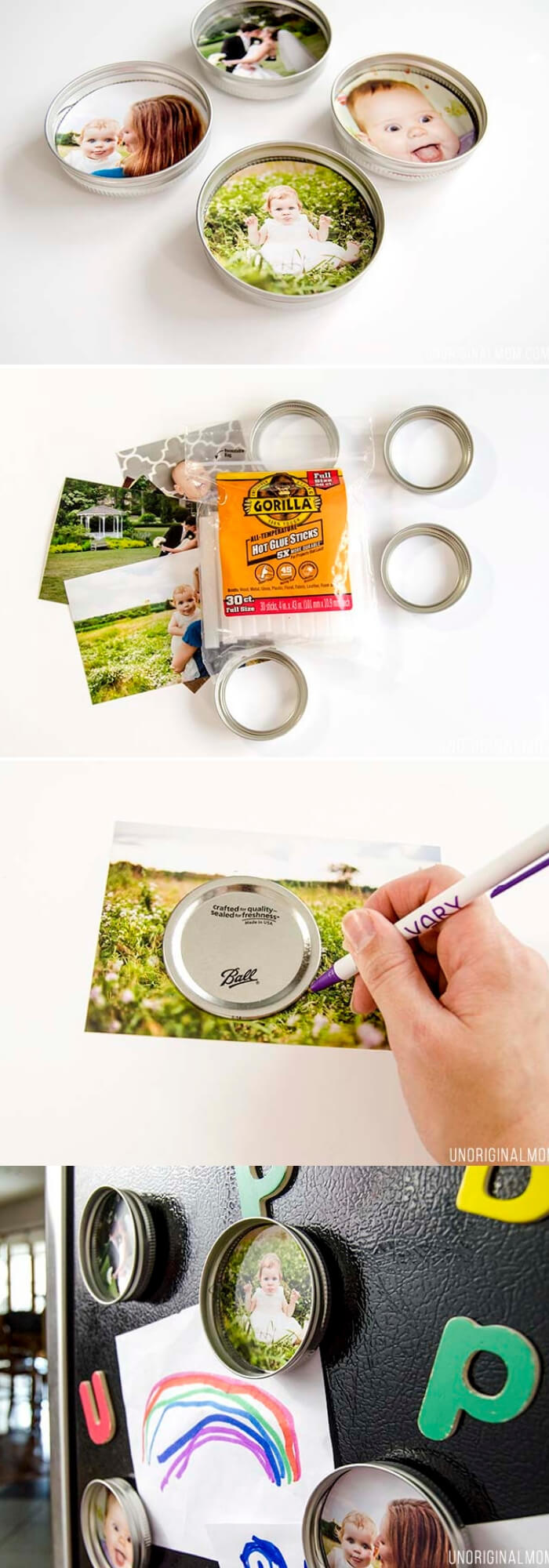 Upcycled Mason Jar Lid Magnets | Christmas Gifts for Grandparents: Creative Holiday Ideas for Grandma and Grandpa