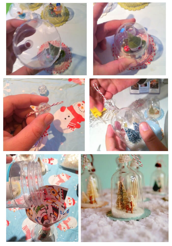 Vintage Inspired Bell Jar Ornaments | Cute and Easy Christmas Ornament Ideas