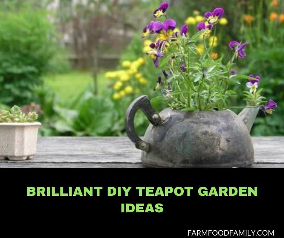206 & 24+ Best DIY Teapot Garden Art \u0026 Decor Ideas - FarmFoodFamily
