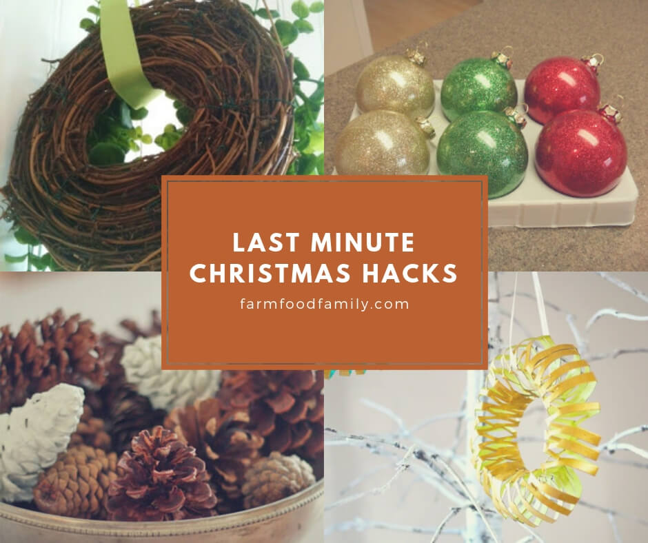 Last minute diy Christmas hacks