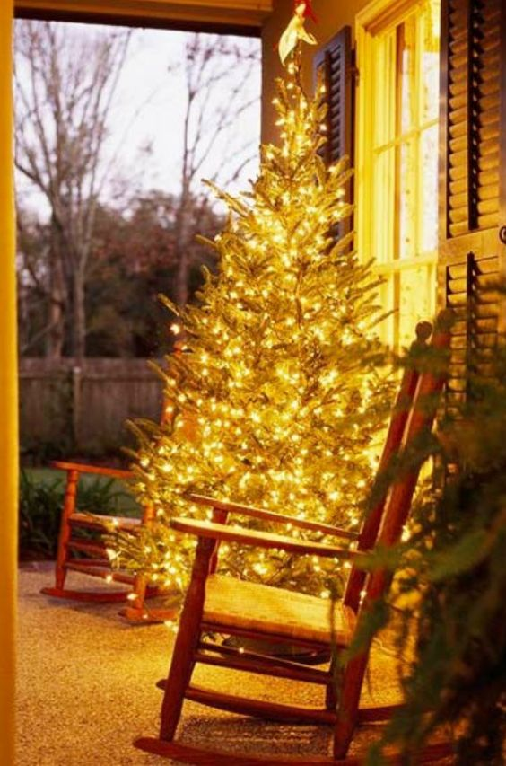 Magical Front Porch | Christmas Door and Window Lighting Decorating Ideas