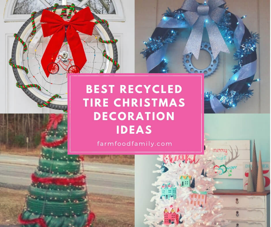 Recycled Christmas Ornaments Ideas.13 Best Recycled Tire Christmas Decoration Ideas For 2019