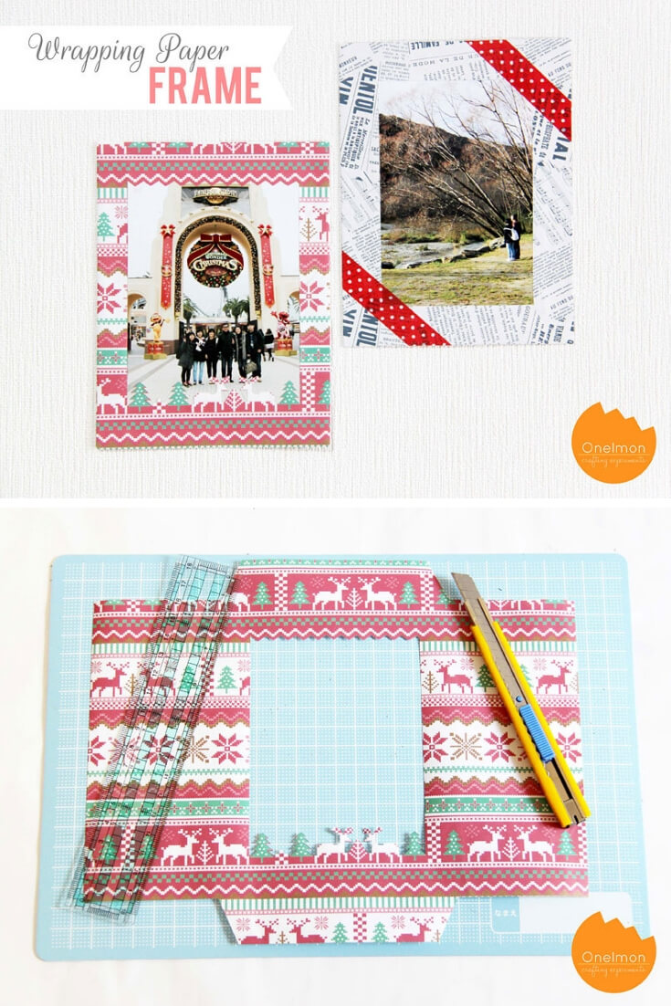Wrapping Paper Photo Frame