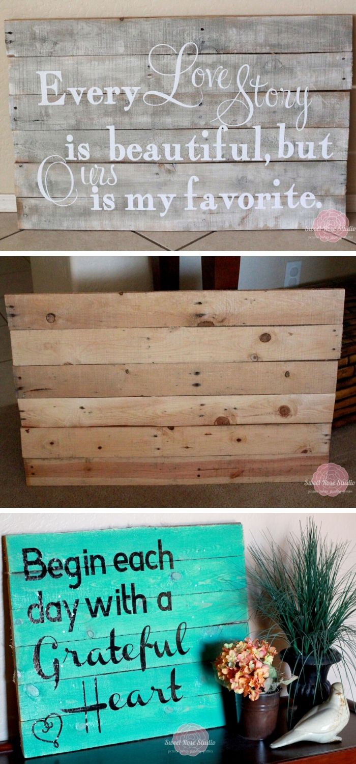 DIY Pallet Love | Valentine's Day Decorating Ideas For Your Lovers | FarmFoodFamily.com