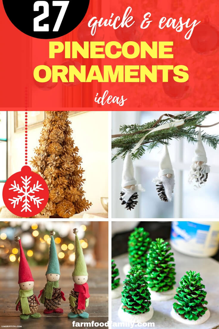 Quick and Easy Pinecone Ornaments