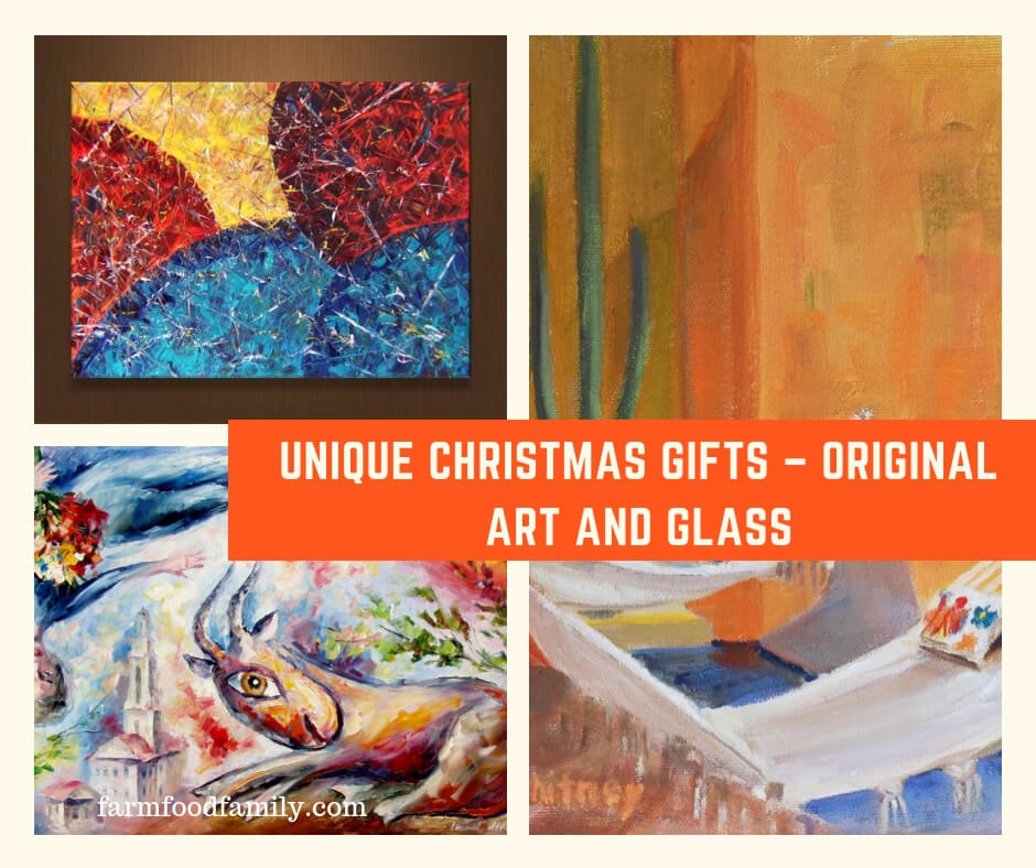 Unique Christmas Gifts – Original Art and Glass