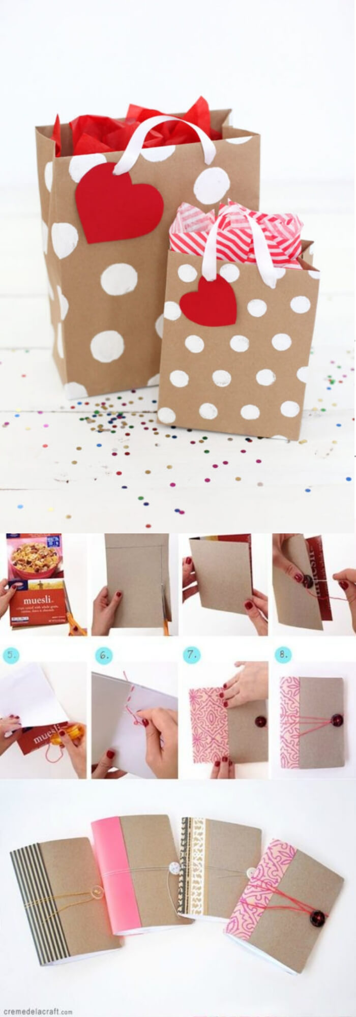 Cereal Boxes Become Gift Bags when Reused | Environmentally-Friendly Valentine's Day Gifts