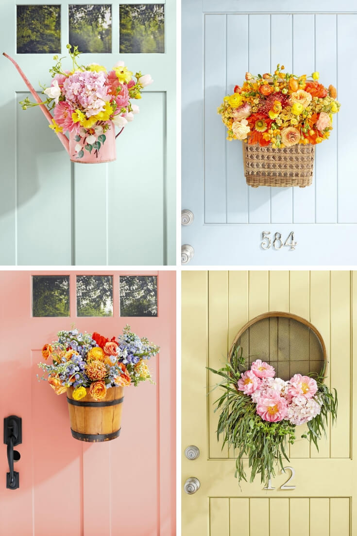 Easy and Simple DIY Spring Wreath Ideas | Funnel, Grain Sifter, Watering Can, Piggin Bucket Wreath
