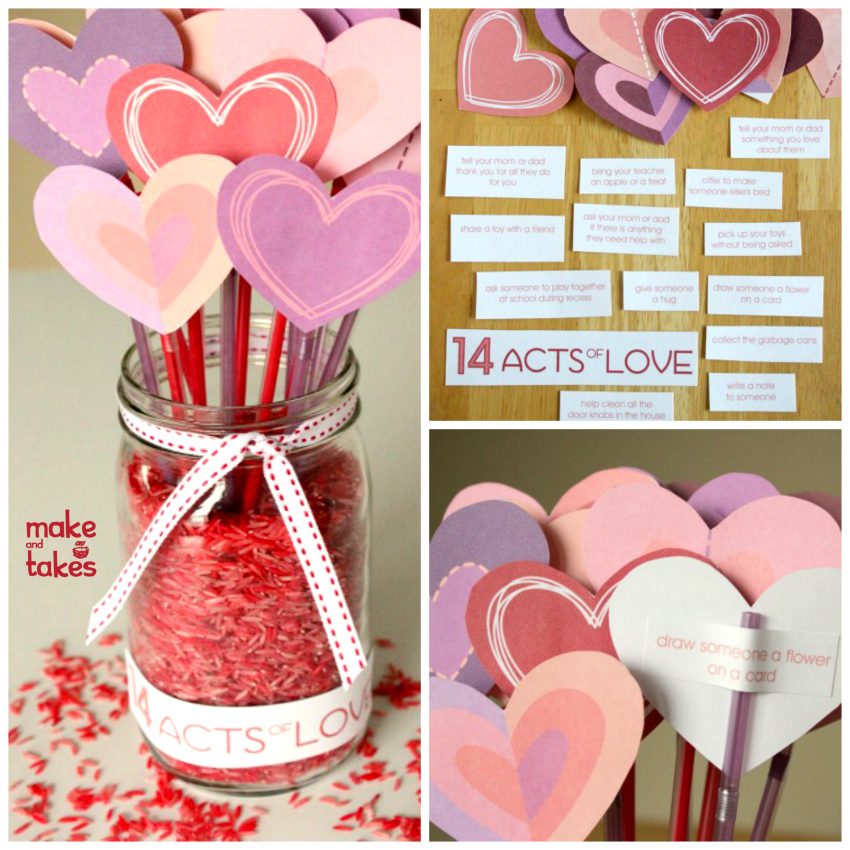 Valentine's counting down - Valentine's Day Crafts for Kids