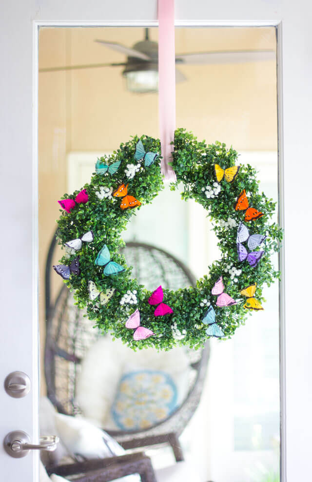 Easy and Simple DIY Spring Wreath Ideas | DIY Spring Butterfly Wreath